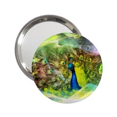 Peacock Digital Painting 2.25  Handbag Mirrors