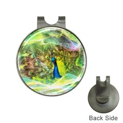 Peacock Digital Painting Hat Clips With Golf Markers