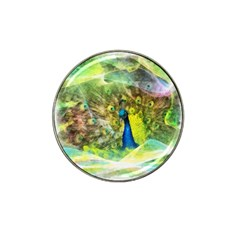 Peacock Digital Painting Hat Clip Ball Marker