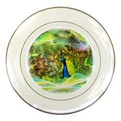 Peacock Digital Painting Porcelain Plates