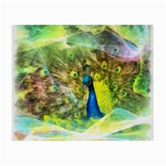 Peacock Digital Painting Small Glasses Cloth (2 Side)