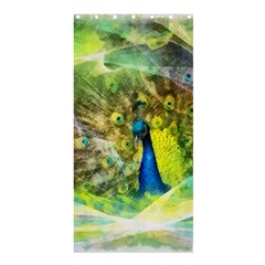 Peacock Digital Painting Shower Curtain 36  X 72  (stall)