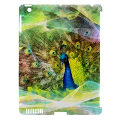 Peacock Digital Painting Apple iPad 3/4 Hardshell Case (Compatible with Smart Cover)