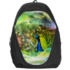 Peacock Digital Painting Backpack Bag
