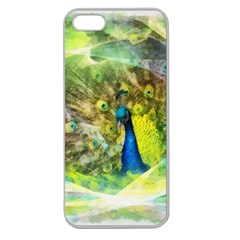 Peacock Digital Painting Apple Seamless iPhone 5 Case (Clear)