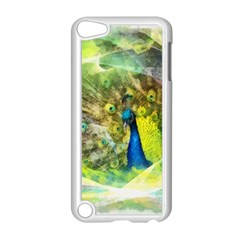 Peacock Digital Painting Apple iPod Touch 5 Case (White)
