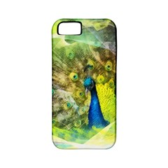 Peacock Digital Painting Apple iPhone 5 Classic Hardshell Case (PC+Silicone)