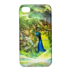 Peacock Digital Painting Apple iPhone 4/4S Hardshell Case with Stand