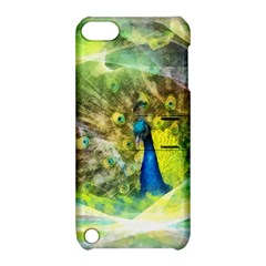 Peacock Digital Painting Apple iPod Touch 5 Hardshell Case with Stand