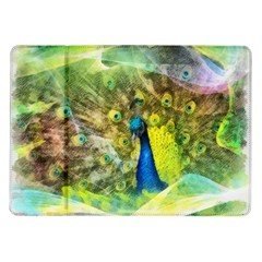 Peacock Digital Painting Samsung Galaxy Tab 10 1  P7500 Flip Case