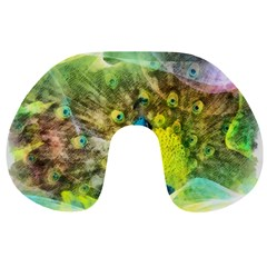 Peacock Digital Painting Travel Neck Pillows