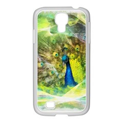Peacock Digital Painting Samsung GALAXY S4 I9500/ I9505 Case (White)
