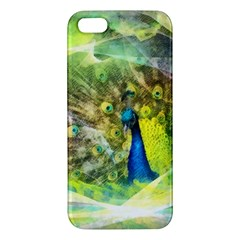 Peacock Digital Painting Iphone 5s/ Se Premium Hardshell Case