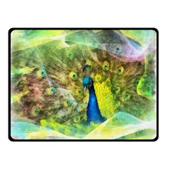 Peacock Digital Painting Double Sided Fleece Blanket (Small)
