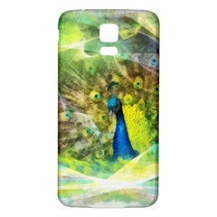 Peacock Digital Painting Samsung Galaxy S5 Back Case (White)