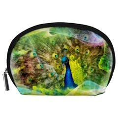 Peacock Digital Painting Accessory Pouches (Large)
