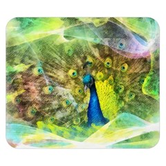 Peacock Digital Painting Double Sided Flano Blanket (small)