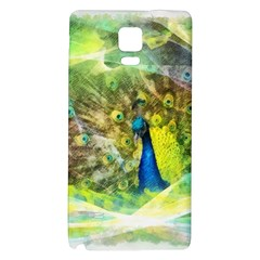 Peacock Digital Painting Galaxy Note 4 Back Case