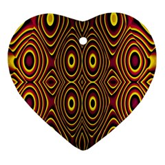 Vibrant Pattern Ornament (heart)