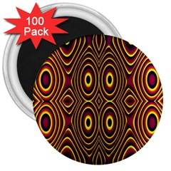 Vibrant Pattern 3  Magnets (100 Pack)