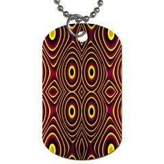Vibrant Pattern Dog Tag (Two Sides)