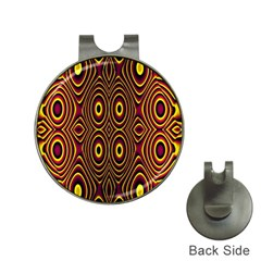 Vibrant Pattern Hat Clips with Golf Markers