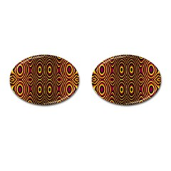 Vibrant Pattern Cufflinks (Oval)