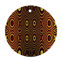 Vibrant Pattern Round Ornament (two Sides)