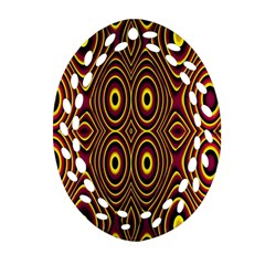 Vibrant Pattern Oval Filigree Ornament (Two Sides)