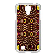 Vibrant Pattern Samsung GALAXY S4 I9500/ I9505 Case (White)