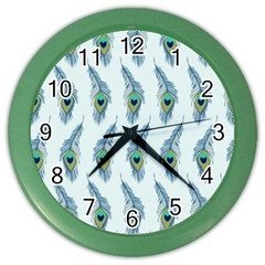 Background Of Beautiful Peacock Feathers Wallpaper For Scrapbooking Color Wall Clocks