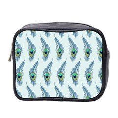 Background Of Beautiful Peacock Feathers Wallpaper For Scrapbooking Mini Toiletries Bag 2 Side