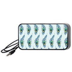 Background Of Beautiful Peacock Feathers Wallpaper For Scrapbooking Portable Speaker (black)
