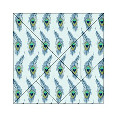 Background Of Beautiful Peacock Feathers Wallpaper For Scrapbooking Acrylic Tangram Puzzle (6  X 6 )