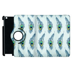 Background Of Beautiful Peacock Feathers Wallpaper For Scrapbooking Apple iPad 2 Flip 360 Case