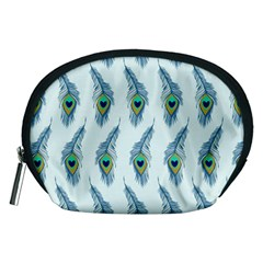 Background Of Beautiful Peacock Feathers Wallpaper For Scrapbooking Accessory Pouches (Medium)