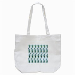 Background Of Beautiful Peacock Feathers Wallpaper For Scrapbooking Tote Bag (White)