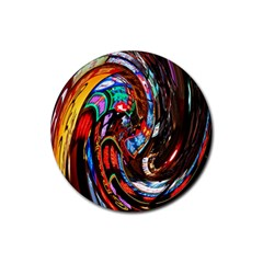 Abstract Chinese Inspired Background Rubber Coaster (round)