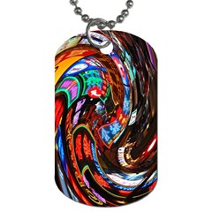 Abstract Chinese Inspired Background Dog Tag (One Side)