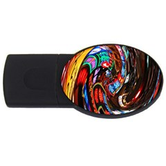 Abstract Chinese Inspired Background USB Flash Drive Oval (1 GB)