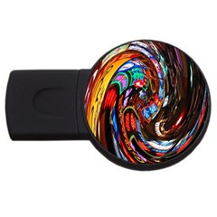 Abstract Chinese Inspired Background Usb Flash Drive Round (4 Gb)