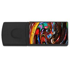 Abstract Chinese Inspired Background USB Flash Drive Rectangular (4 GB)