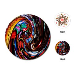 Abstract Chinese Inspired Background Playing Cards (round)