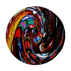 Abstract Chinese Inspired Background Round Ornament (two Sides)