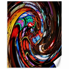 Abstract Chinese Inspired Background Canvas 16  X 20