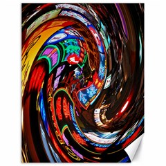 Abstract Chinese Inspired Background Canvas 18  X 24