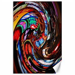Abstract Chinese Inspired Background Canvas 24  X 36