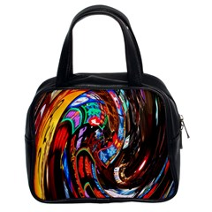 Abstract Chinese Inspired Background Classic Handbags (2 Sides)