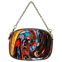 Abstract Chinese Inspired Background Chain Purses (Two Sides)