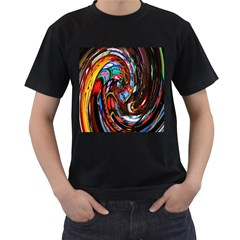 Abstract Chinese Inspired Background Men s T Shirt (black)